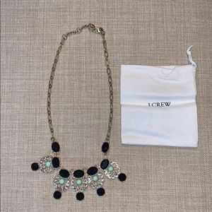 jcrew factory navy/gold/light green/clear necklace